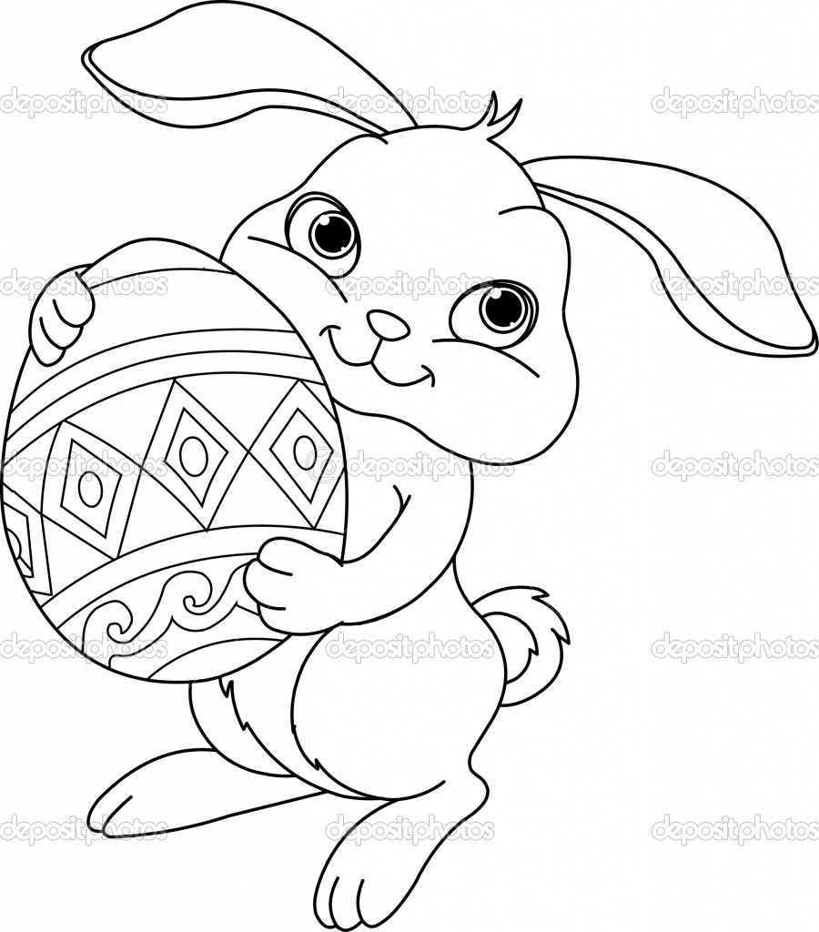 Coloring Pages For Easter Bunny : Easter bunny pictures to color
