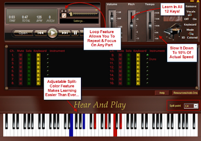 Song Robot Software from Hear and Play l LadyDpiano