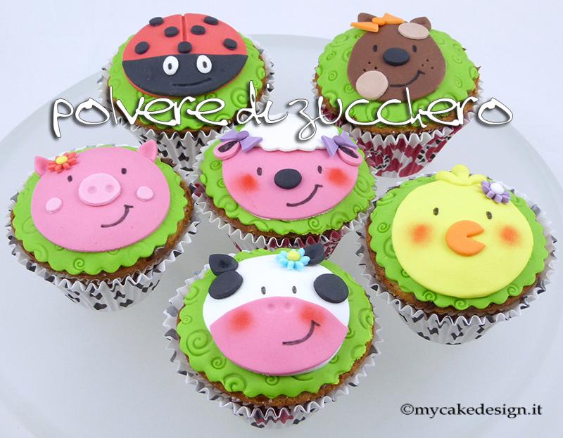 Tutorial cupcakes animali della fattoria mucca maiale for Decorazione torte e cupcake