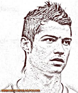Foto Sketsa Cristiano Ronaldo