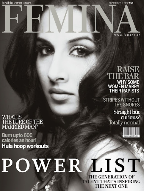 Vidya Balan On The Cover Of Femina September 2012