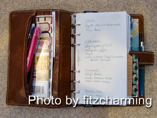 Filofax Malden Shopping List