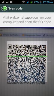 cara megscane QR code di website whatsapp