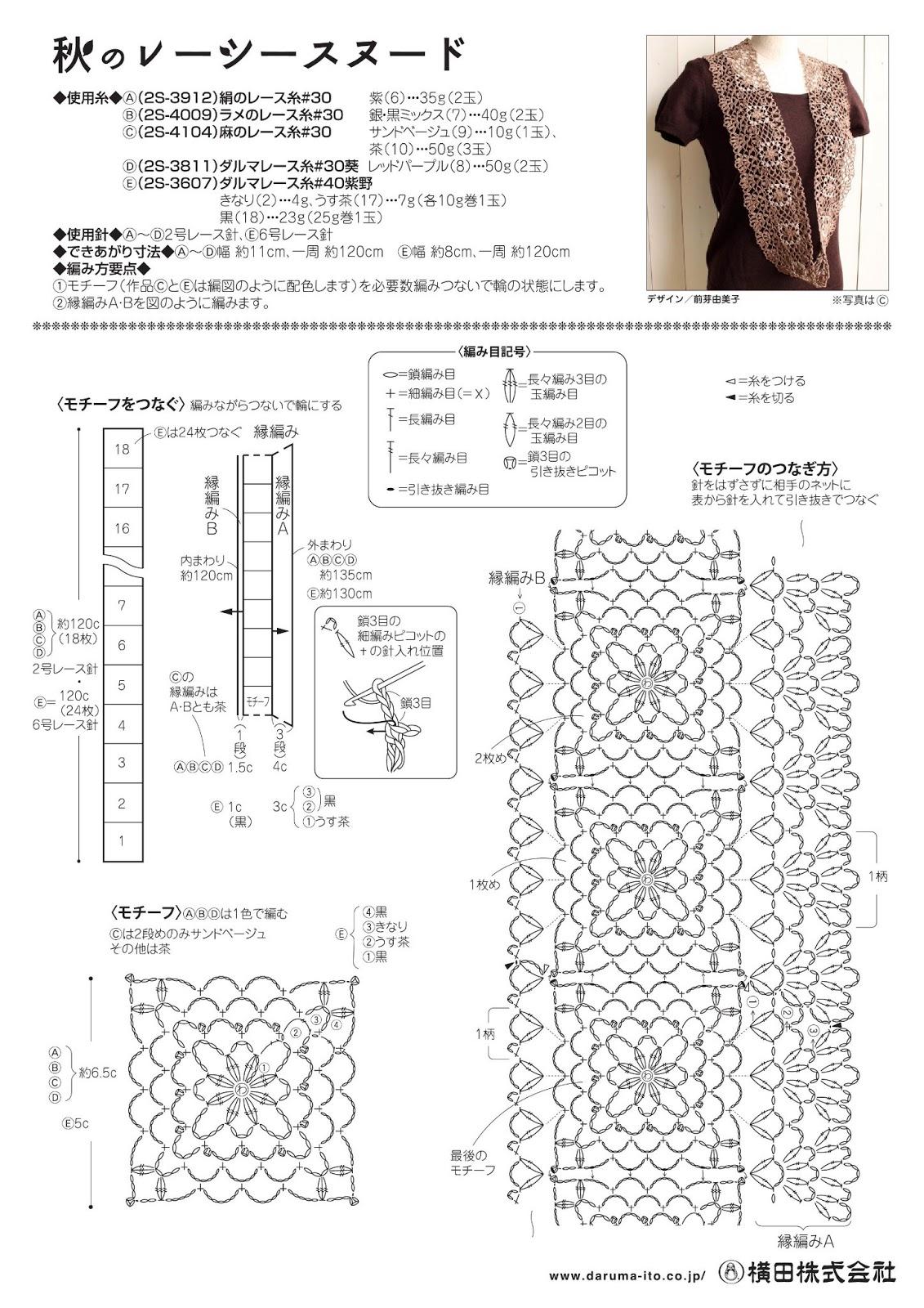 схема вязания шарфа манишка спицами