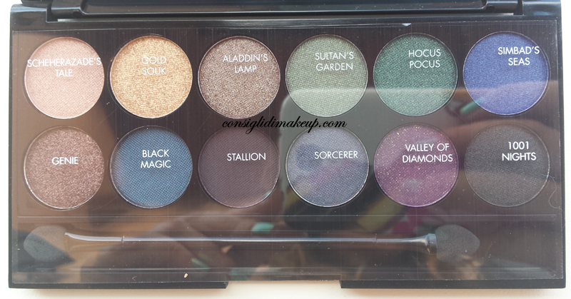 review palette sleek makeup arabian night