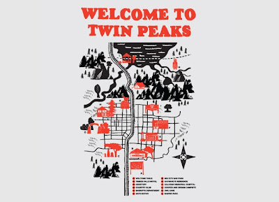 Threadless Twin Peaks T-Shirt &#8220;Welcome to Twin Peaks&#8221; by Robert Farkas