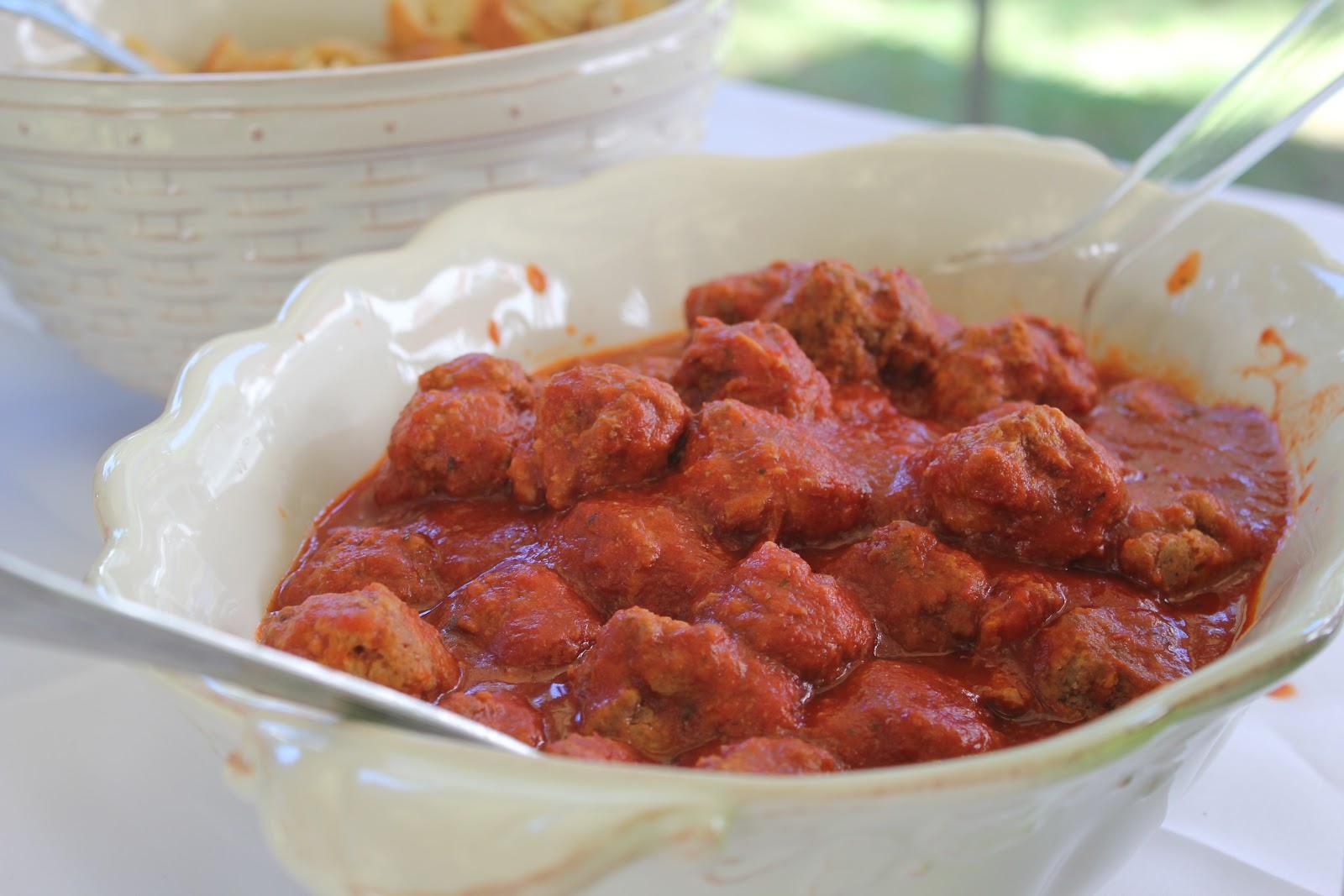 meatballs for italian themed bridal shower