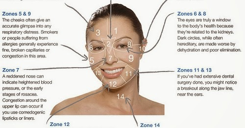 Raw  U0026 Lovely  Acne Face Mapping  What Is Your Acne Trying