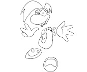#7 Rayman Coloring Page