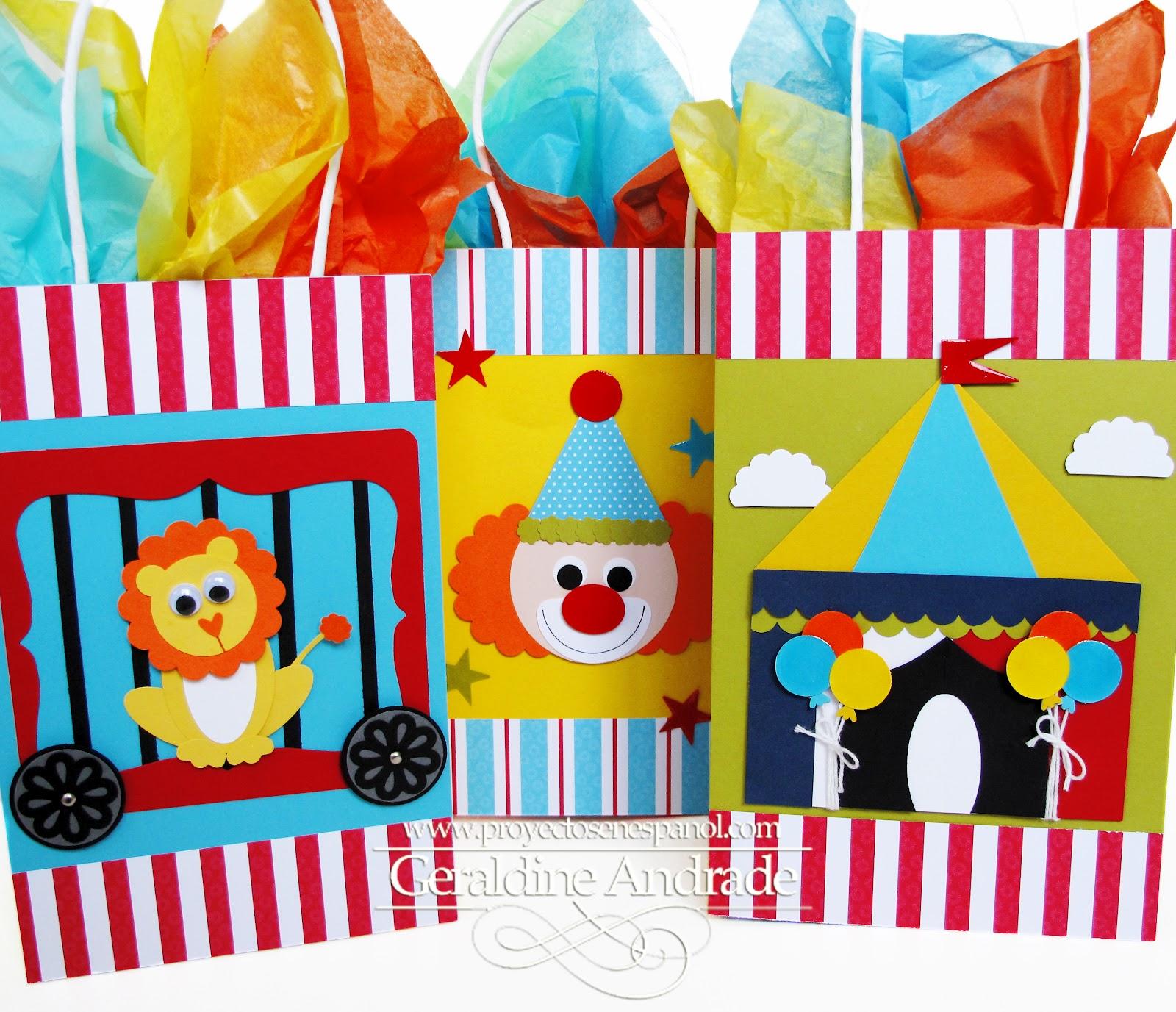 Mafer 39 s creations circus bags bolsas de circo para los - Telas con motivos infantiles ...