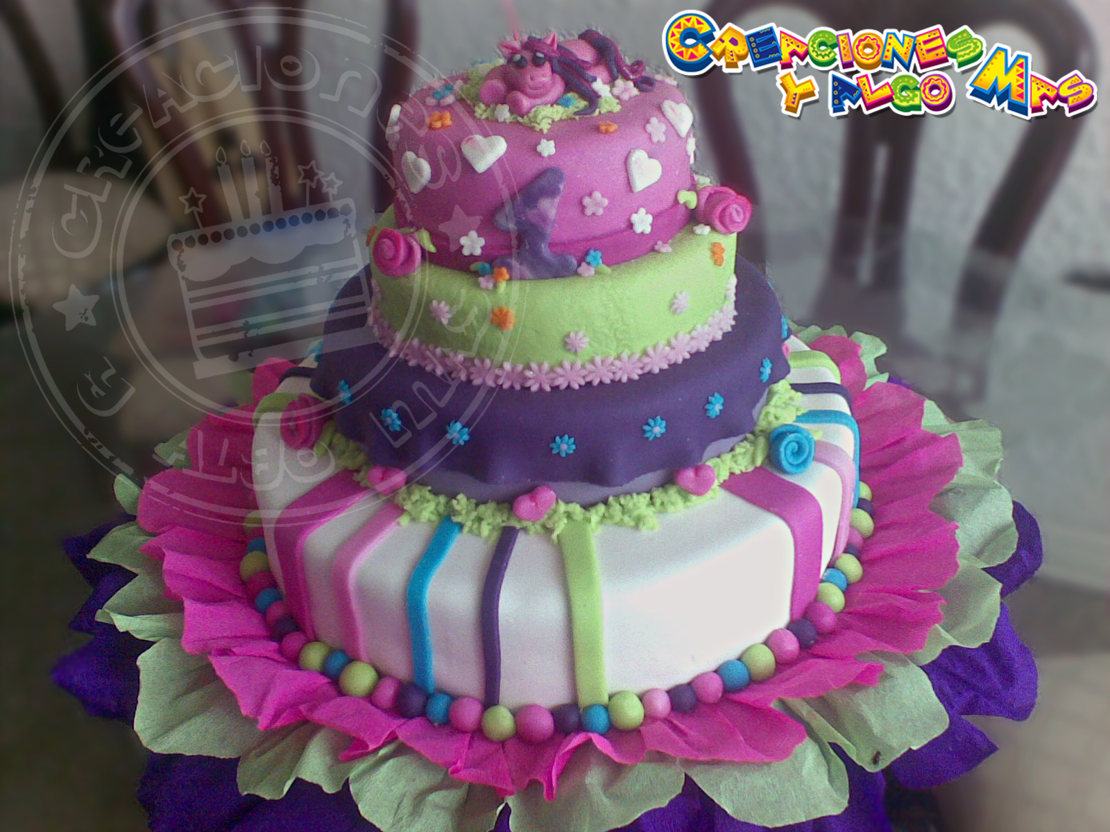 Creaciones y Algo Mas: TORTA Y GELATINA My Little Pony - CAKE AND ...