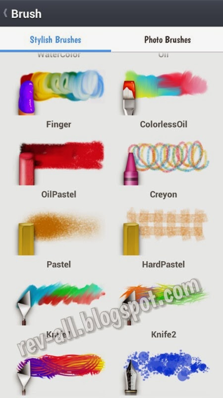 Jenis kuas untuk coret-coret- Line Brush aplikasi android sejenis paint untuk mencoret-coret di perangkat android (rev-all.blogspot.com)