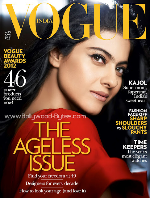 Beautiful Kajol on the cover Vogue India August 2012
