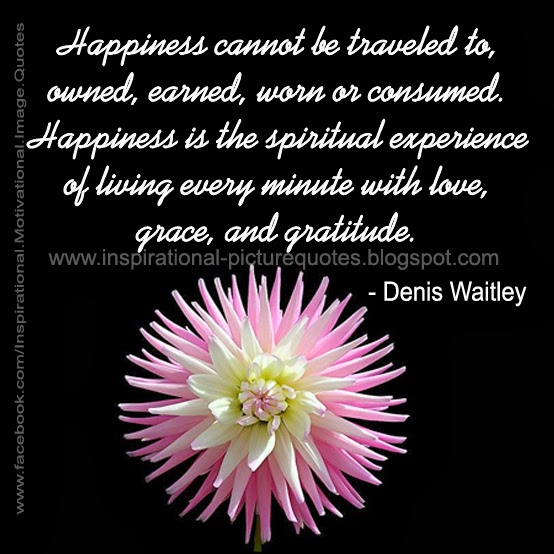 Spiritual Happiness Quote by Denis Waitley   Inspirational Picture