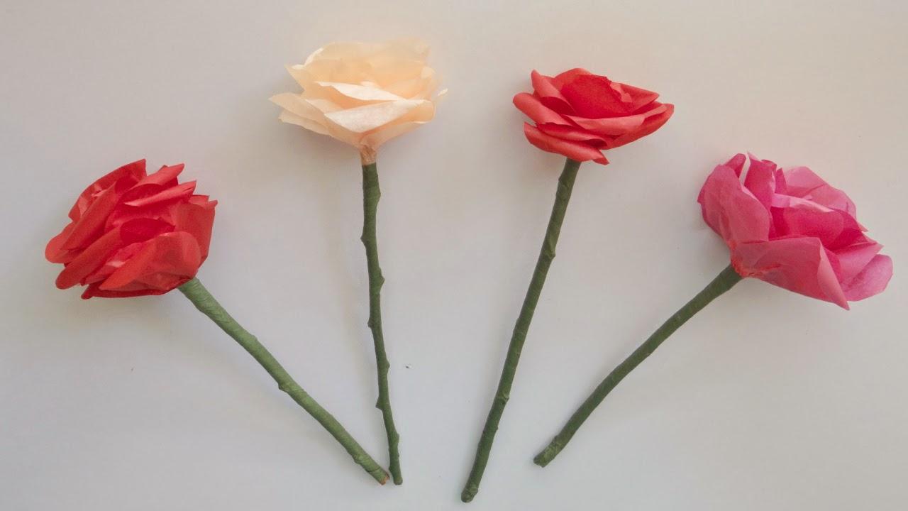 mi fiesta ideal como hacer rosas con papel china crepe