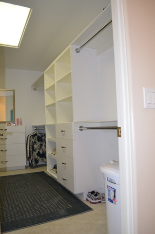 remodeled closet right side