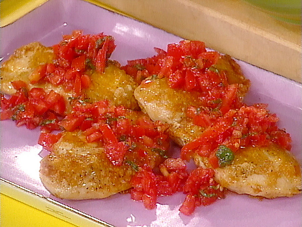 Parmesan Crusted Chicken Breasts with Tomato and Basil and Potatoes ...