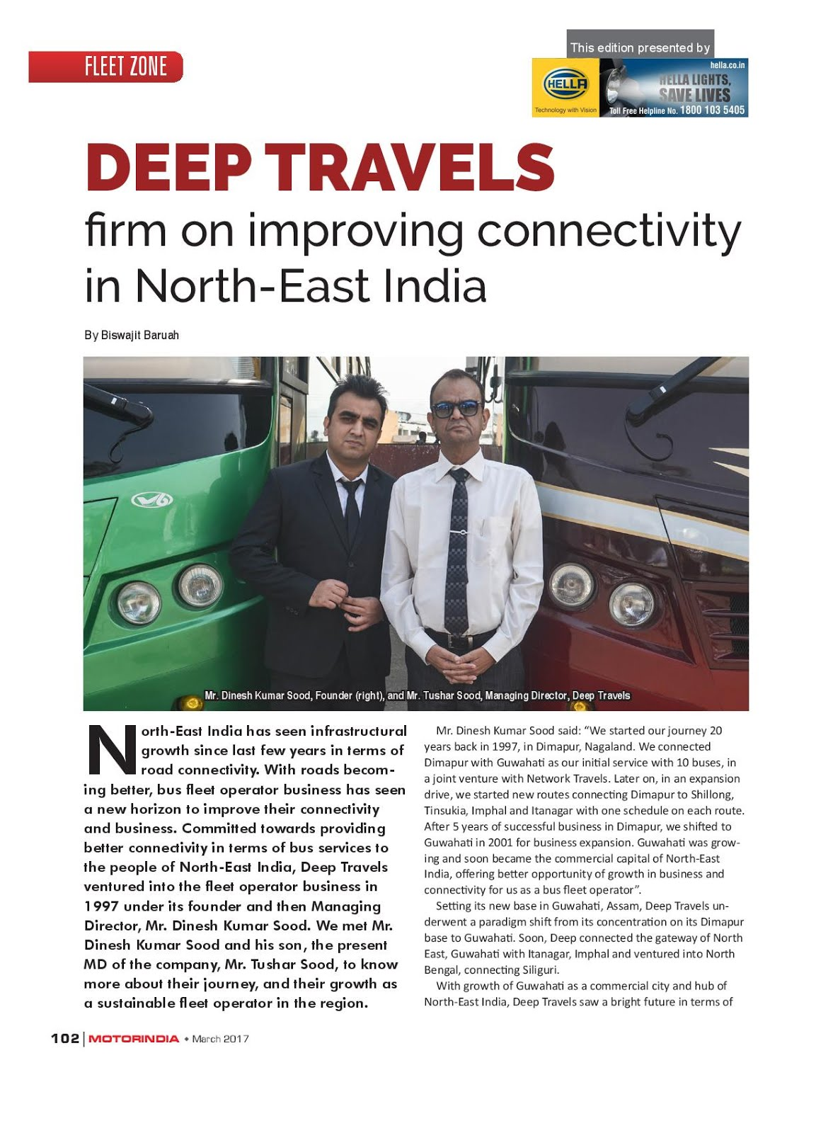 MOTOR INDIA ARTICLE 11 : DEEP TRAVELS