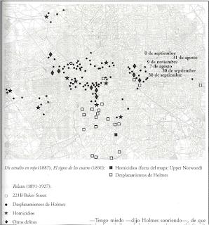 Mapa londres del libro de Moretti