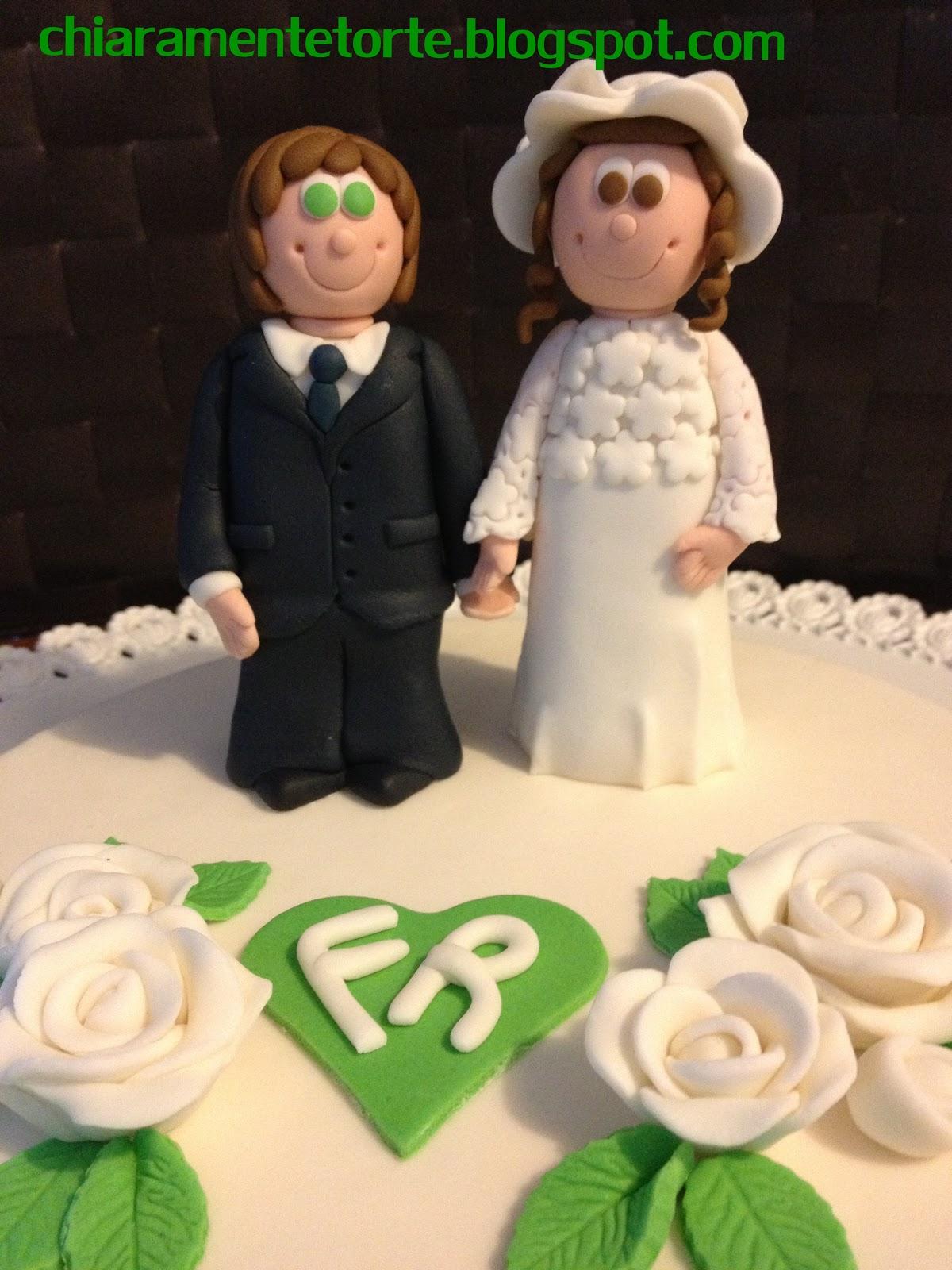Chiaramente torte 40 anni nozze di smeraldo sposi for 40 anni di matrimonio