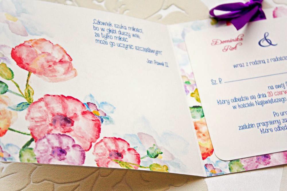 Wiosenne zaproszenia ślubne Akwarelove by Artirea