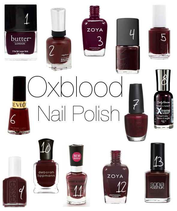 Vernis à ongles : vos marques et couleurs favorites !  - Page 18 Oxbloodnailpolish