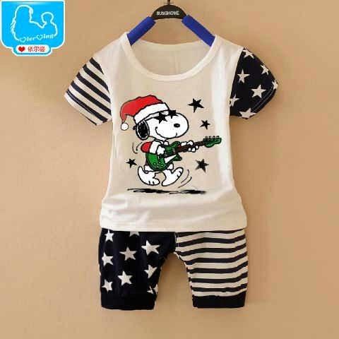 Setelan Anak Snoopy Guitar - Baju Apinigo - Baju Natal - Harga Saudara