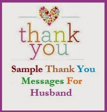 thank you messages husband wife