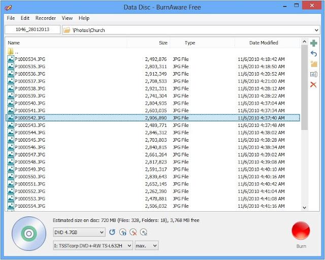 برنامج مجانى لحرق وإنشاء ونسخ الاسطوانات BurnAware Free 6.5 CD,DVD
