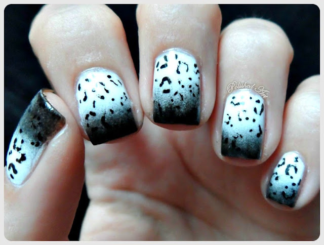 Black-White-Nail-Art-Challenge-5-Faux-Fur-animal-leopard-print-gradient-barry-m