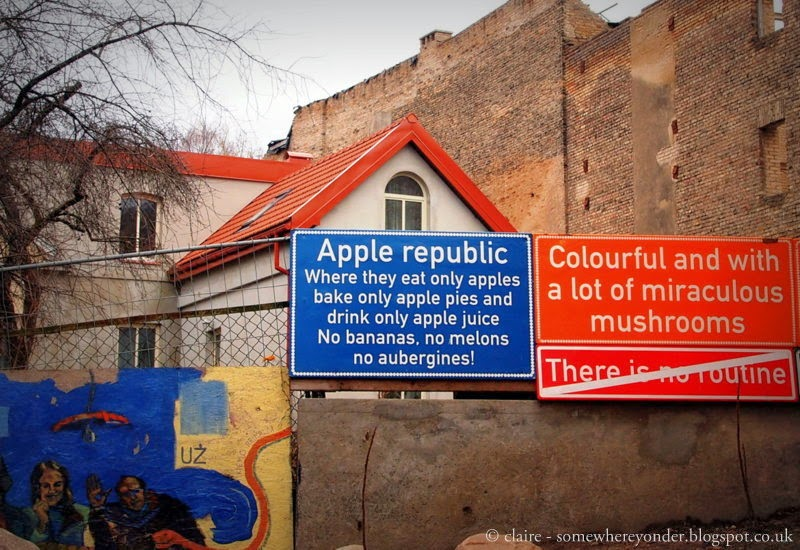 Signs - the republic of Užupis - Lithuania