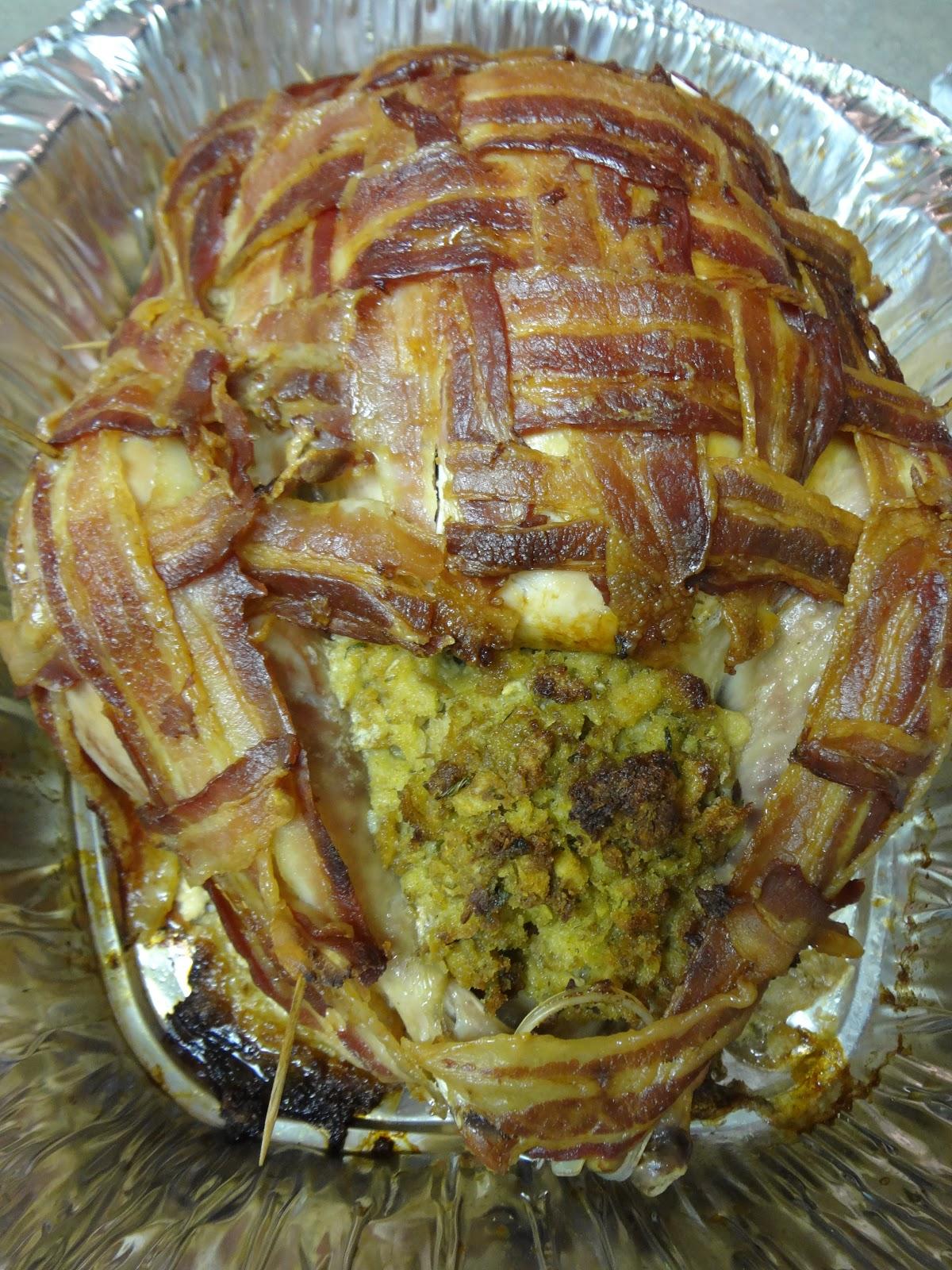 Crafty Night Owls: Bacon Wrapped Turkey