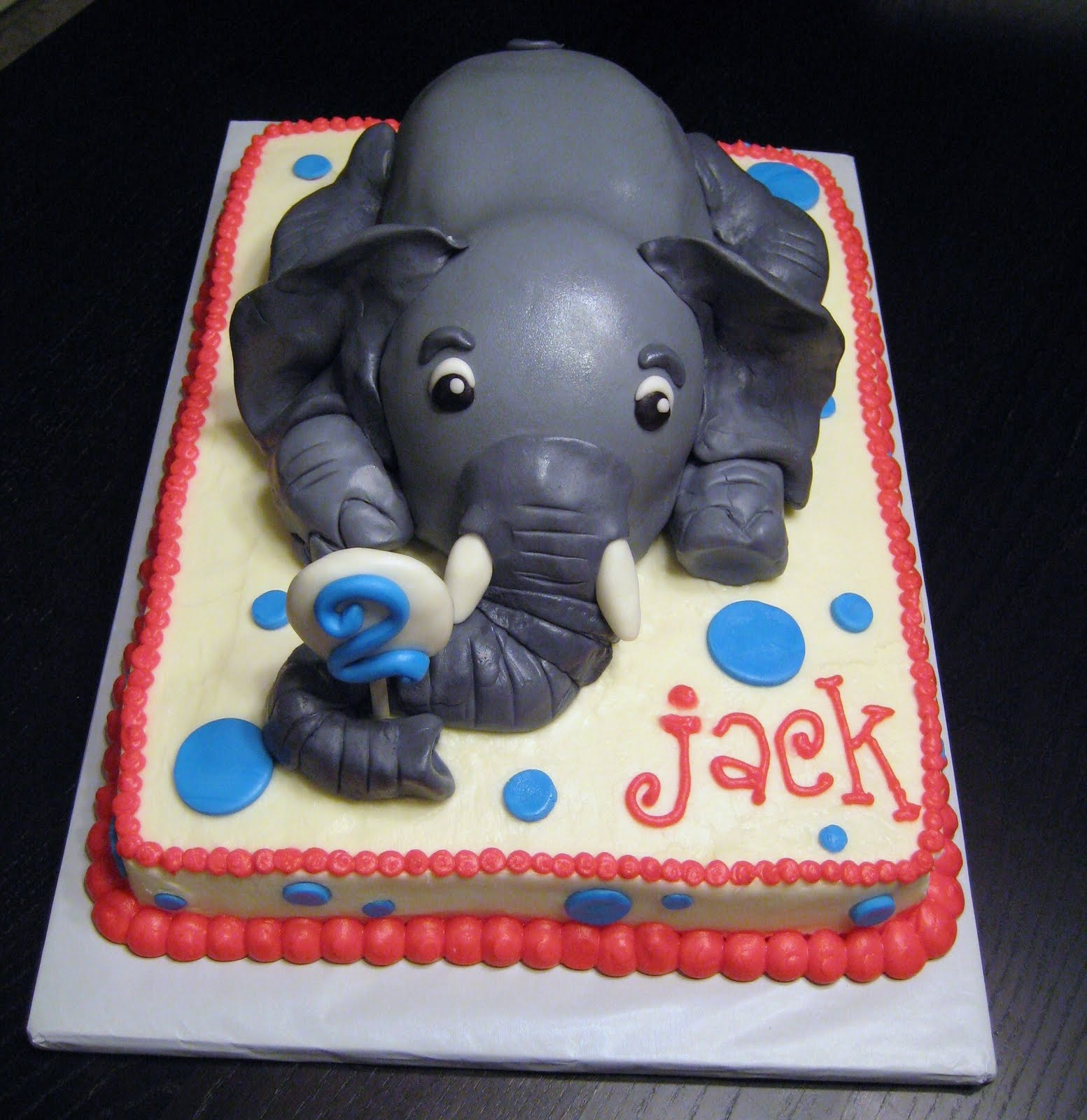 Custom Cakes by Julie: Elephant Cake