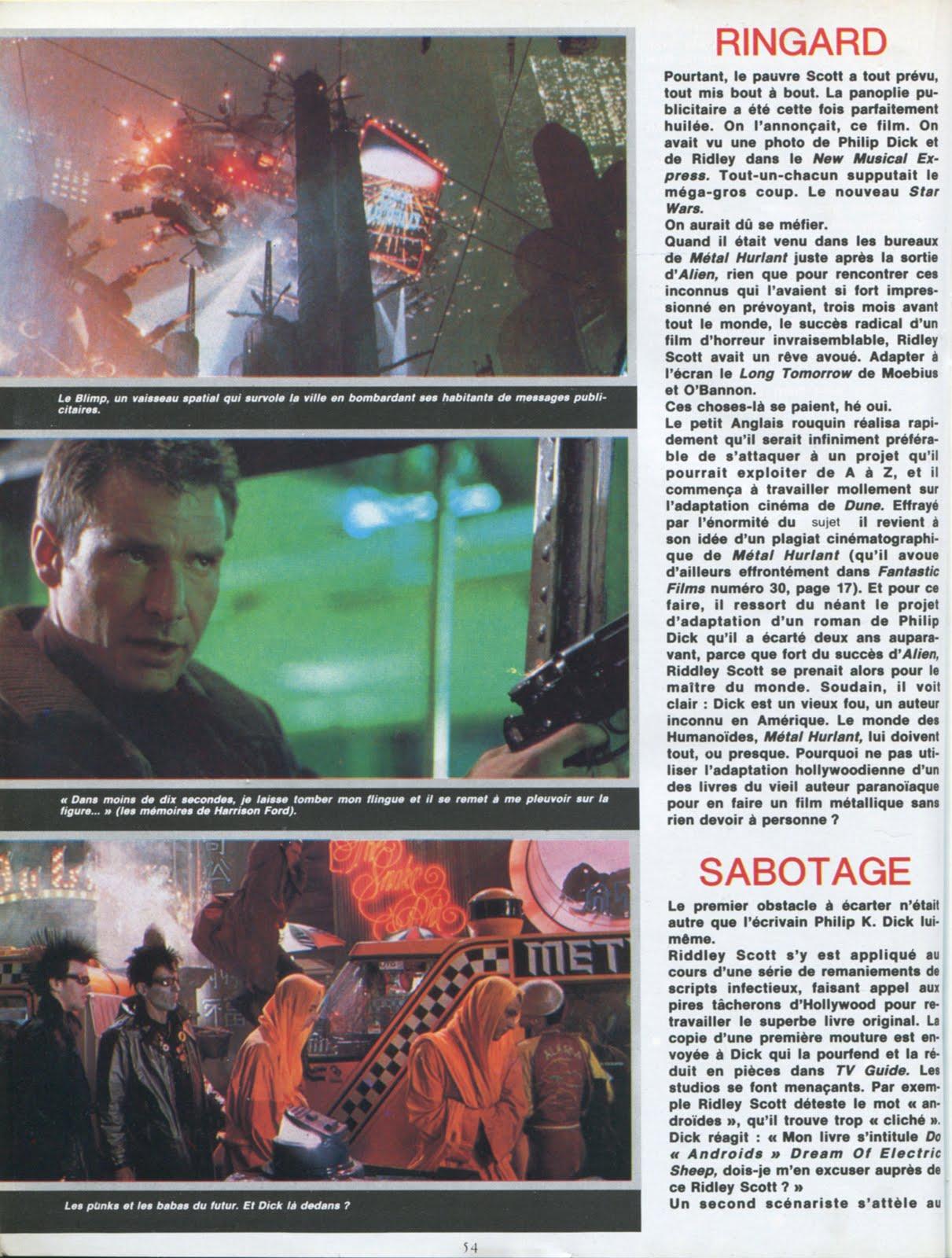 METAL HURLANT (Sept 1982) Blade Runner LA+SECONDE+MORT+PHILIP+K.+DICK+3