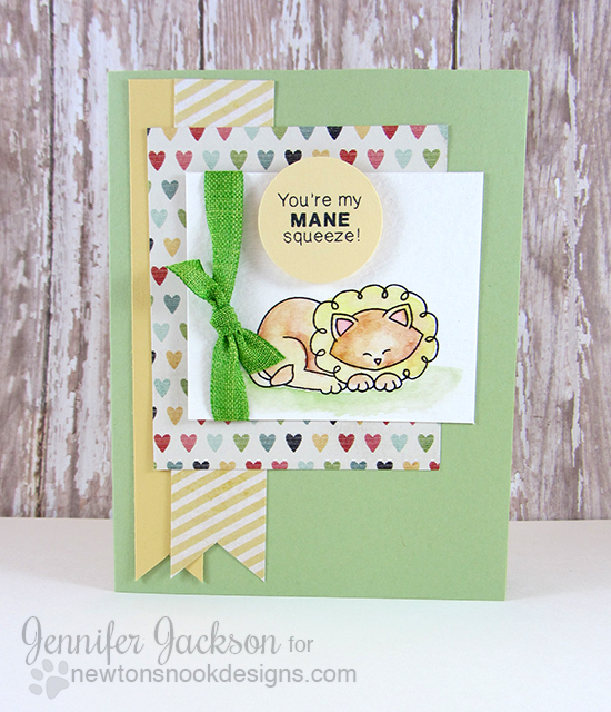 MANE squeeze Lion card by Jennifer Jackson | Wild about Zoo stamp set by Newton's Nook Designs #newtonsnook