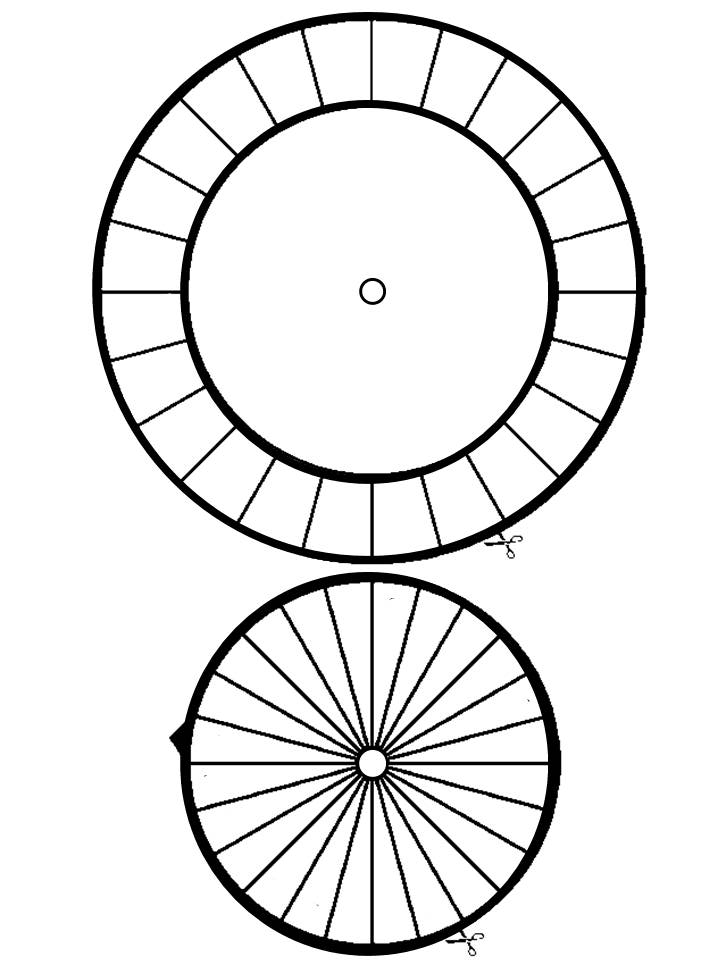 This is a picture of Hilaire Printable Cipher Wheel