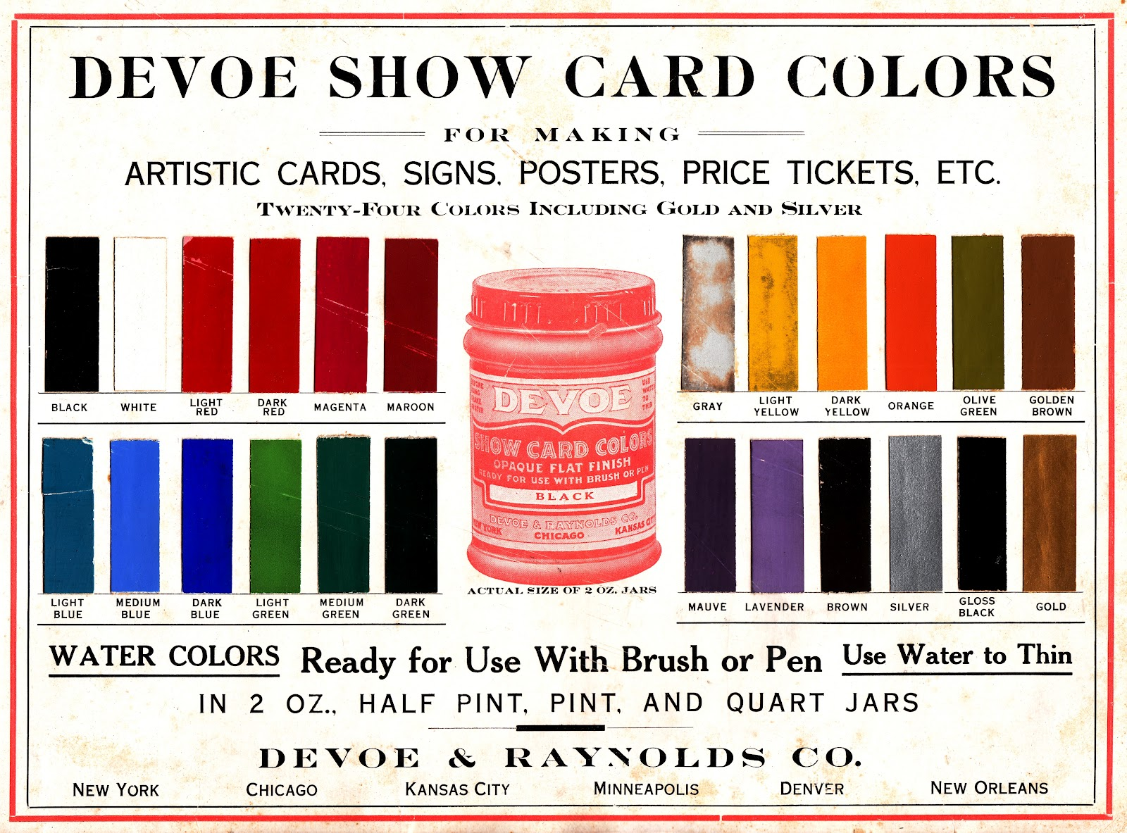 Dull tool dim bulb march 2012 show card colors devoe and raynolds the oldest company of paint nvjuhfo Images