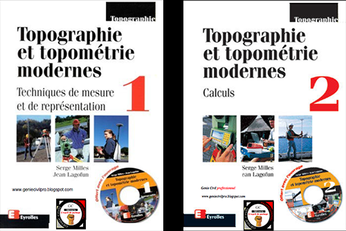 Topographie et topométrie modernes Par Serge Milles et jean lagofun Tom 1&2  Tom-1-1-2-