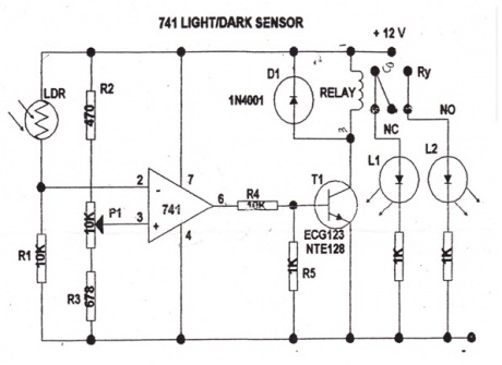 Outstanding Light And Dark Sensor Adornment - Electrical Circuit ...