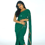 Monica in Green Saree   Cute Pictures