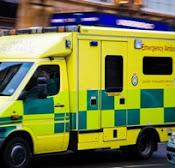 Ambulansen kom