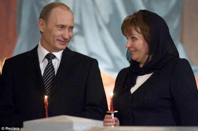 President Putin and wife