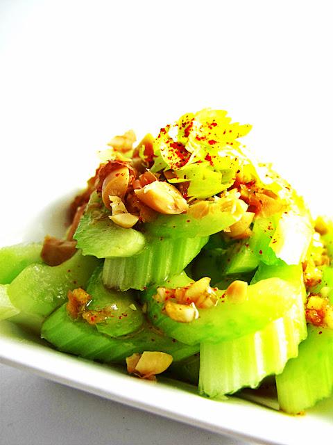 deconstructed asian peanut butter celery salad raw food recipe
