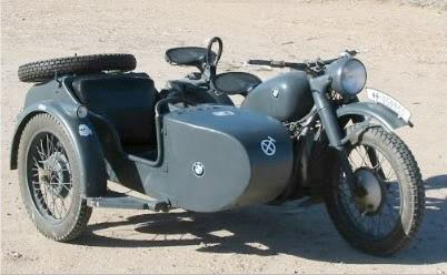 Motor bmw r71 jerman yang terkenal di perang dunia ii