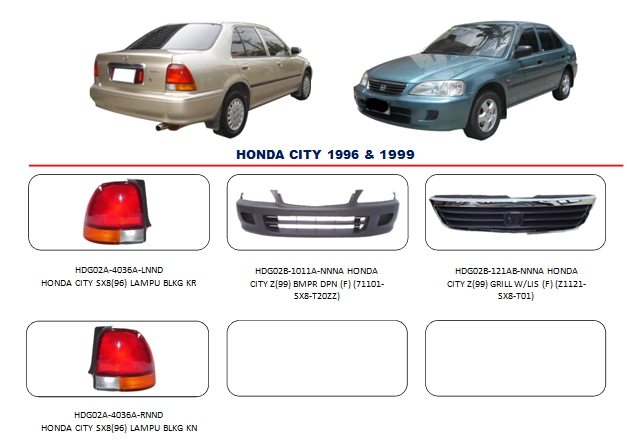 Bemper Honda City 1996-1999