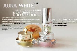 ชุดครีม aura-white-set หน้าขาวใส
