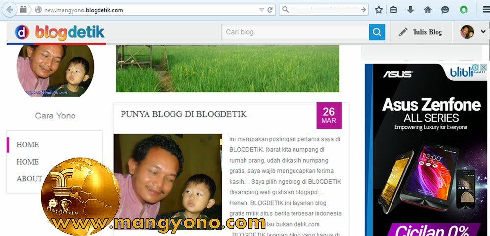 Cara memasang Iklan Google Adsense di Blogdetik