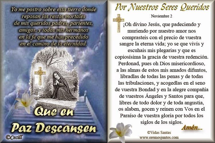 Oraciones De Los Difuntos