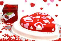 Delicioso pastel en forma de corazón para el Día de San Valentín