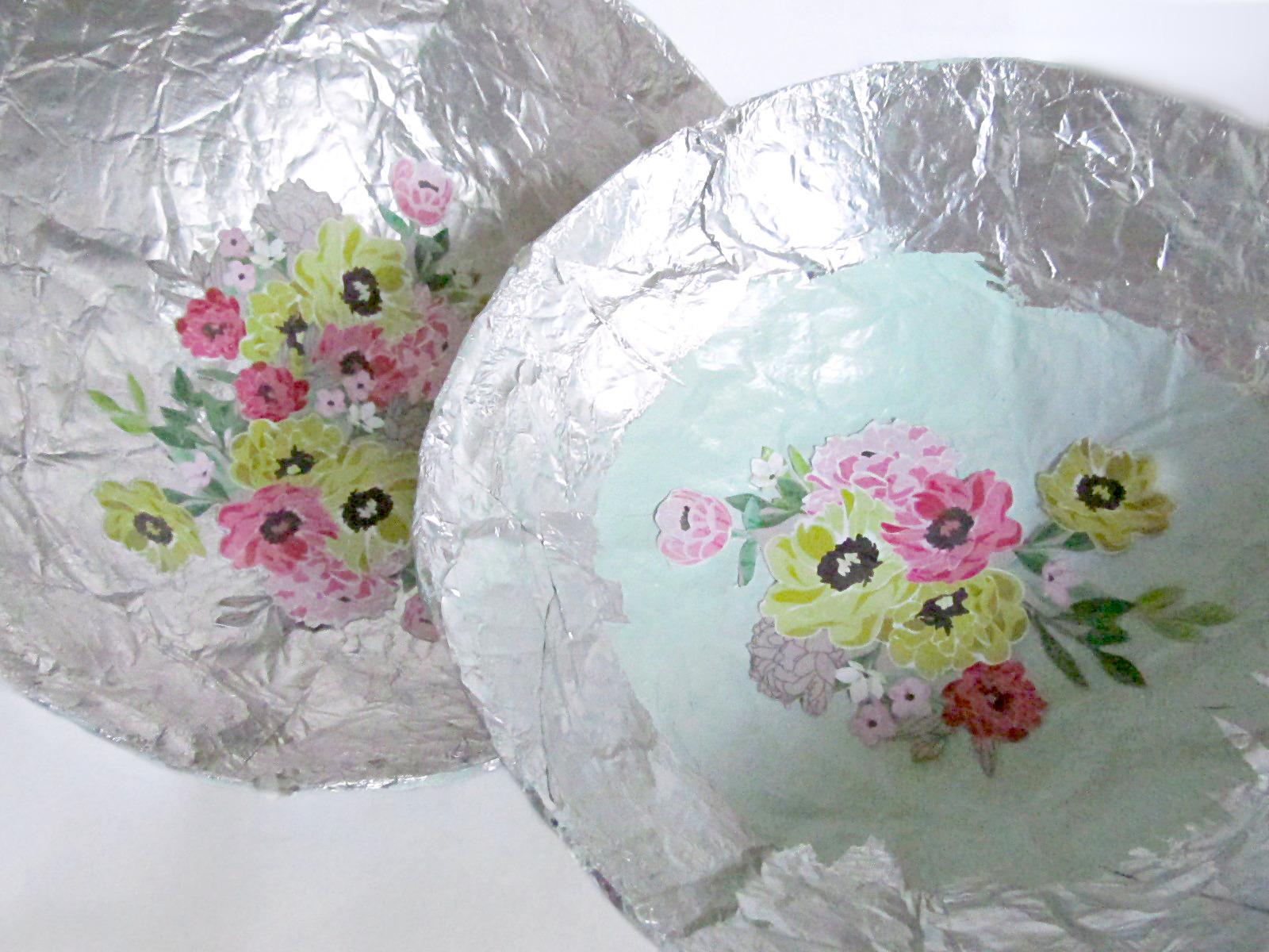 Diy paper mache bowls by newly mynted julie ann art for Diy paper bowl